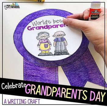 Grandparents Day Craftivity - a no prep September writing activity #grandparentsdaygifts