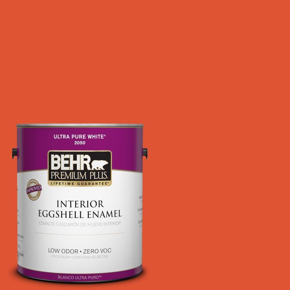 BEHR Premium Plus 1-gal. #S-G-210 Volcanic Blast Zero VOC Eggshell Enamel Interior Paint