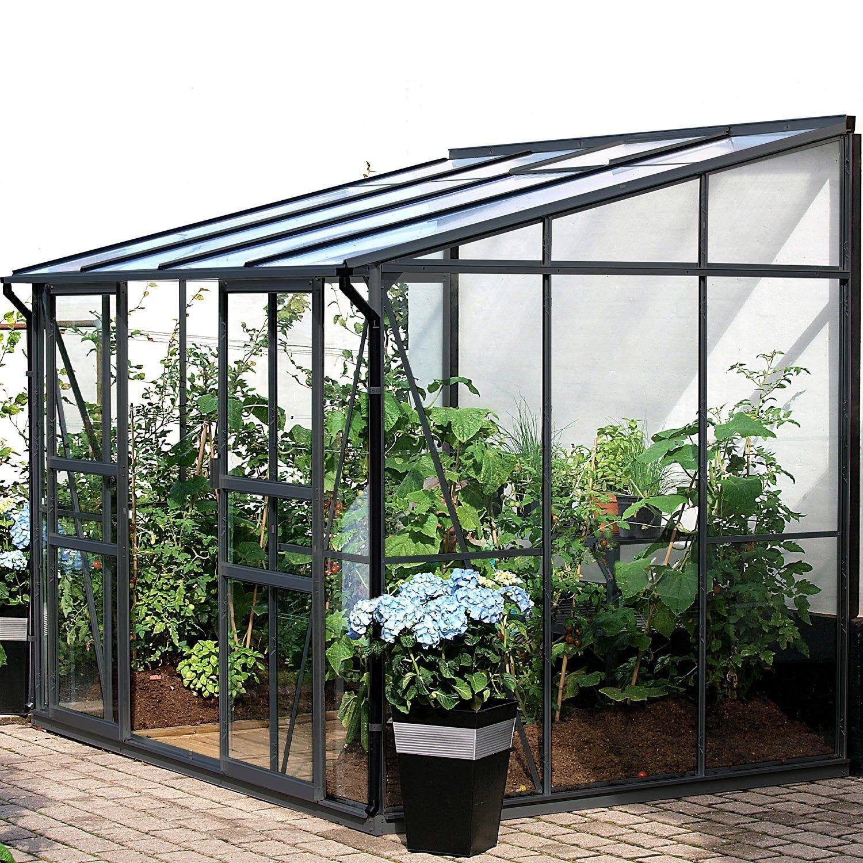 Serre De Jardin En Verre Trempe 794632 5 2 M Lams En 2020 Serre Jardin Serre Adossee Et Jardins