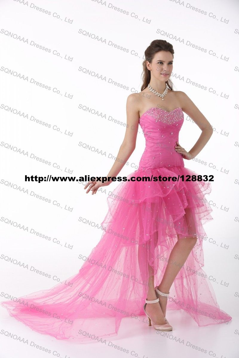 Real Photo High Low Prom Dress Formal Evening Dresses Special ...