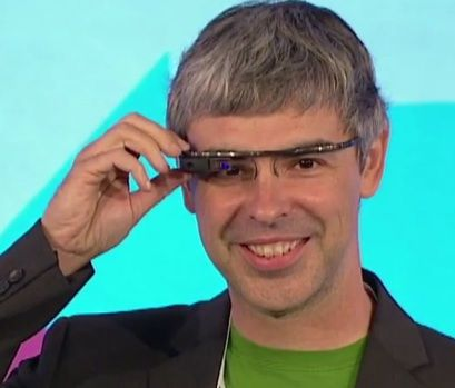 Larry Page in Google Glasses