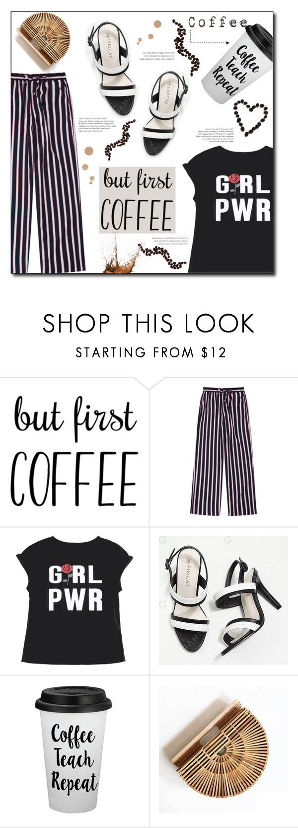 """But First Coffee"" by selena-gomezlover ❤ liked on Polyvore featuring morning, coffee, polyvoreeditorial and butfirstcoffee"
