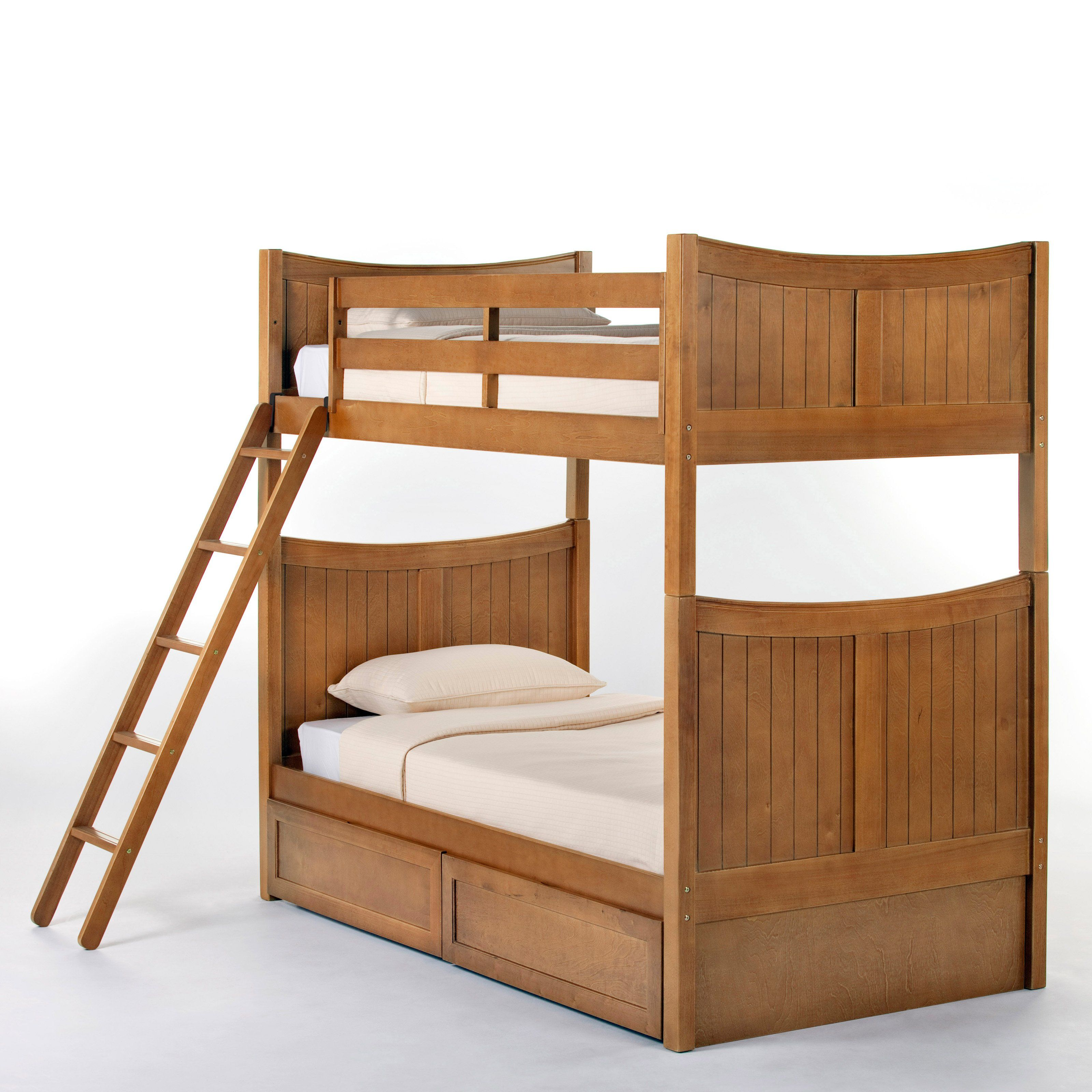 Twin loft bed ideas  Have to have it Schoolhouse Taylor Twin over Twin Bunk Bed  Pecan