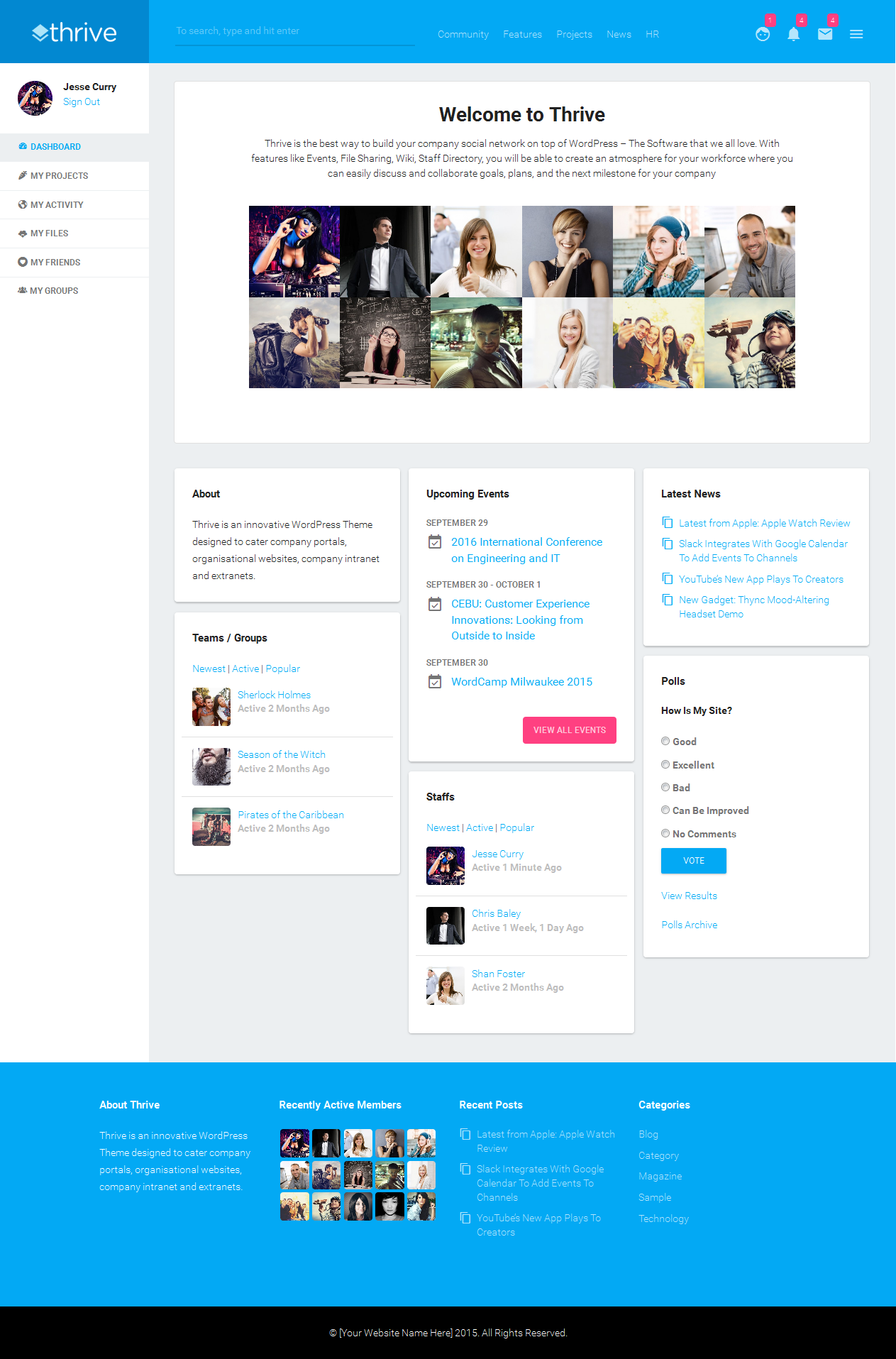 sharepoint responsive template - thrive is an innovative best responsive wordpress theme