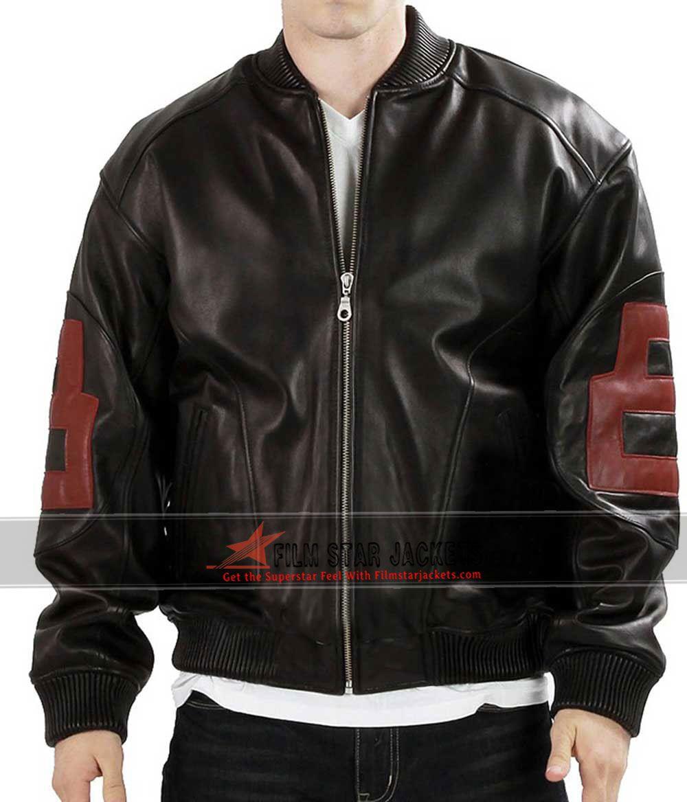 8 Ball Bomber Black Jacket