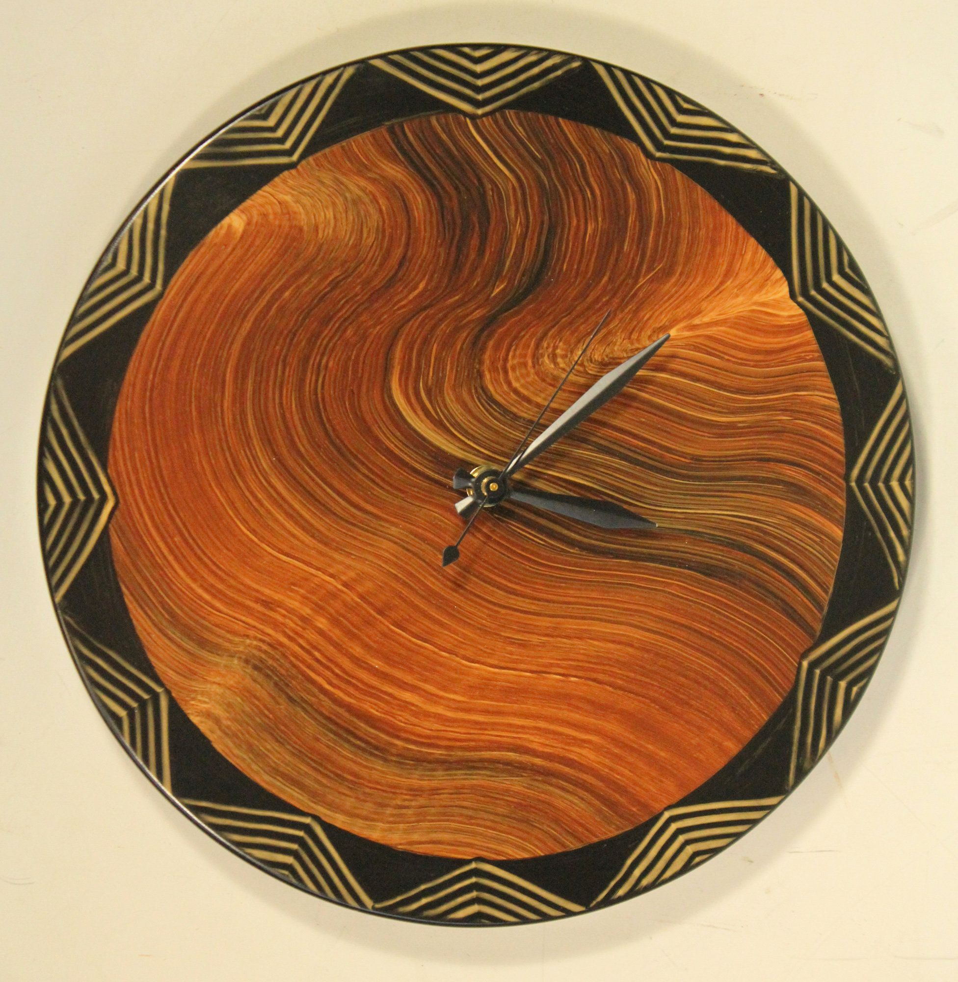 Australia wall clock by ingela noren and daniel grant painted australia wall clock by ingela noren and daniel grant painted wood clock amipublicfo Image collections