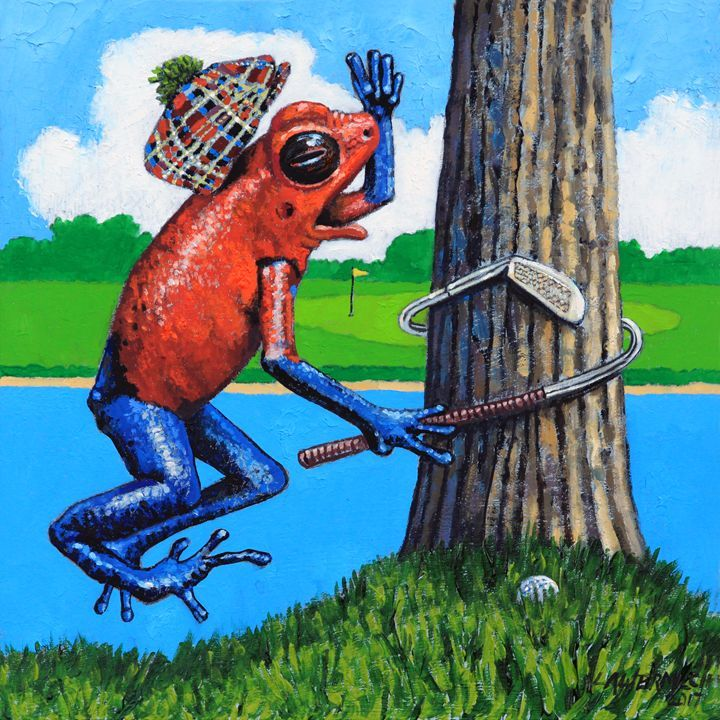 Froggy needs anger management paintings by john