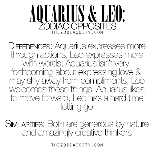 opposite signs leo and aquarius relationship