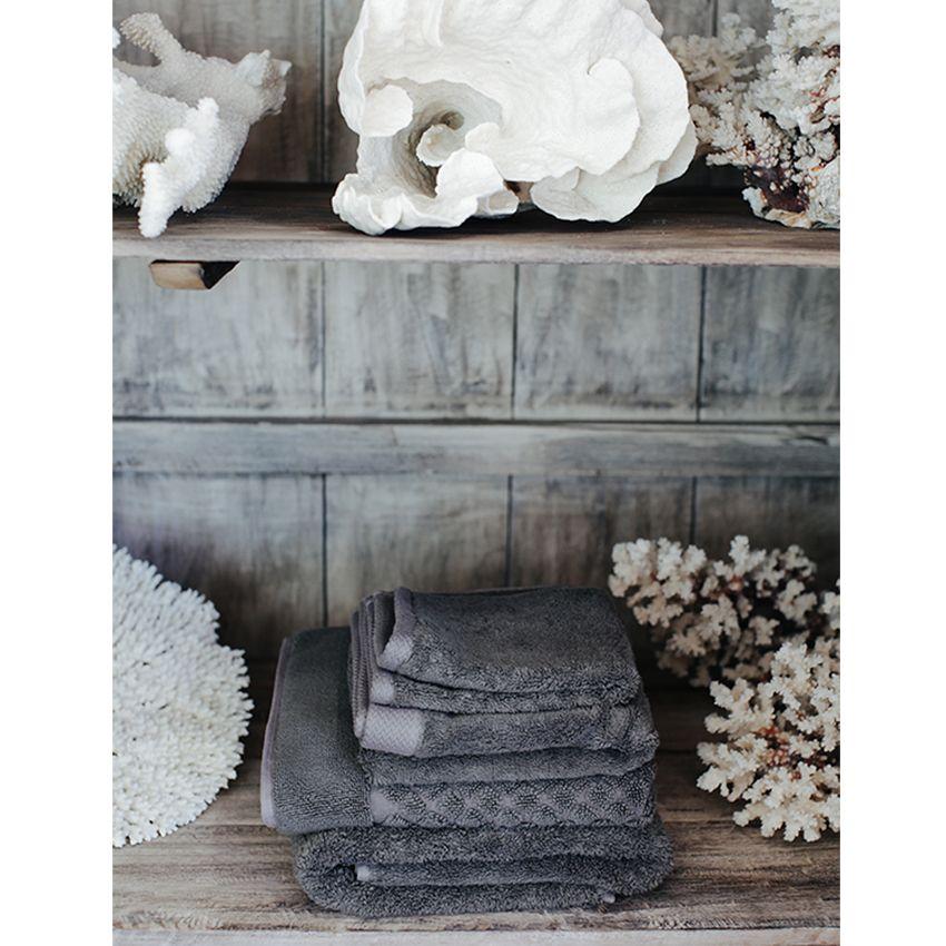 Manyara Home :: Bath :: Bamboo Cotton Towels in Granite