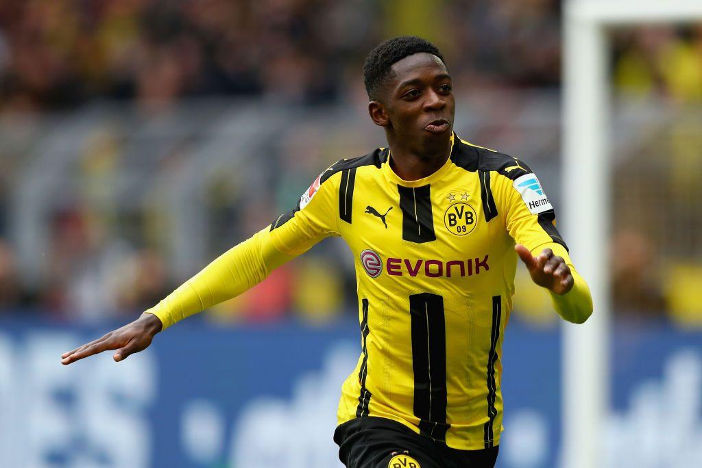 Dortmund Germany March 04 Dembele C Of Dortmund Celebrates After He Scores The Opening Goal During The Bu Dortmund Borussia Dortmund Bayer 04 Leverkusen