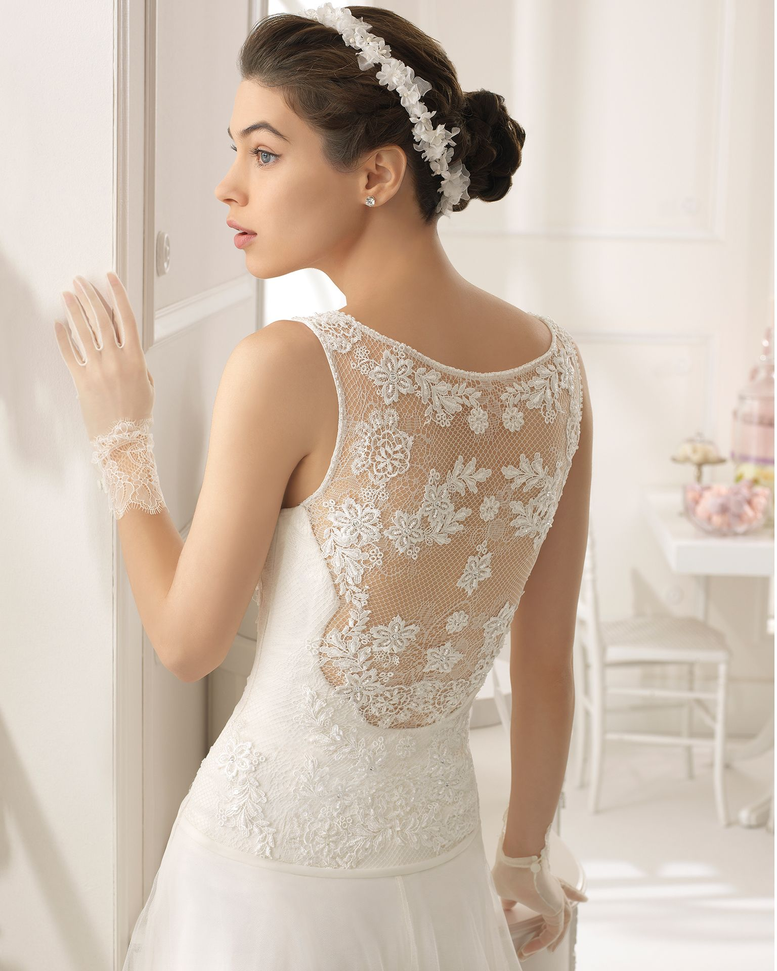 Aire barcelona wedding dresses  Style C ABAD   Collection  Aire Barcelona  Guipure dress
