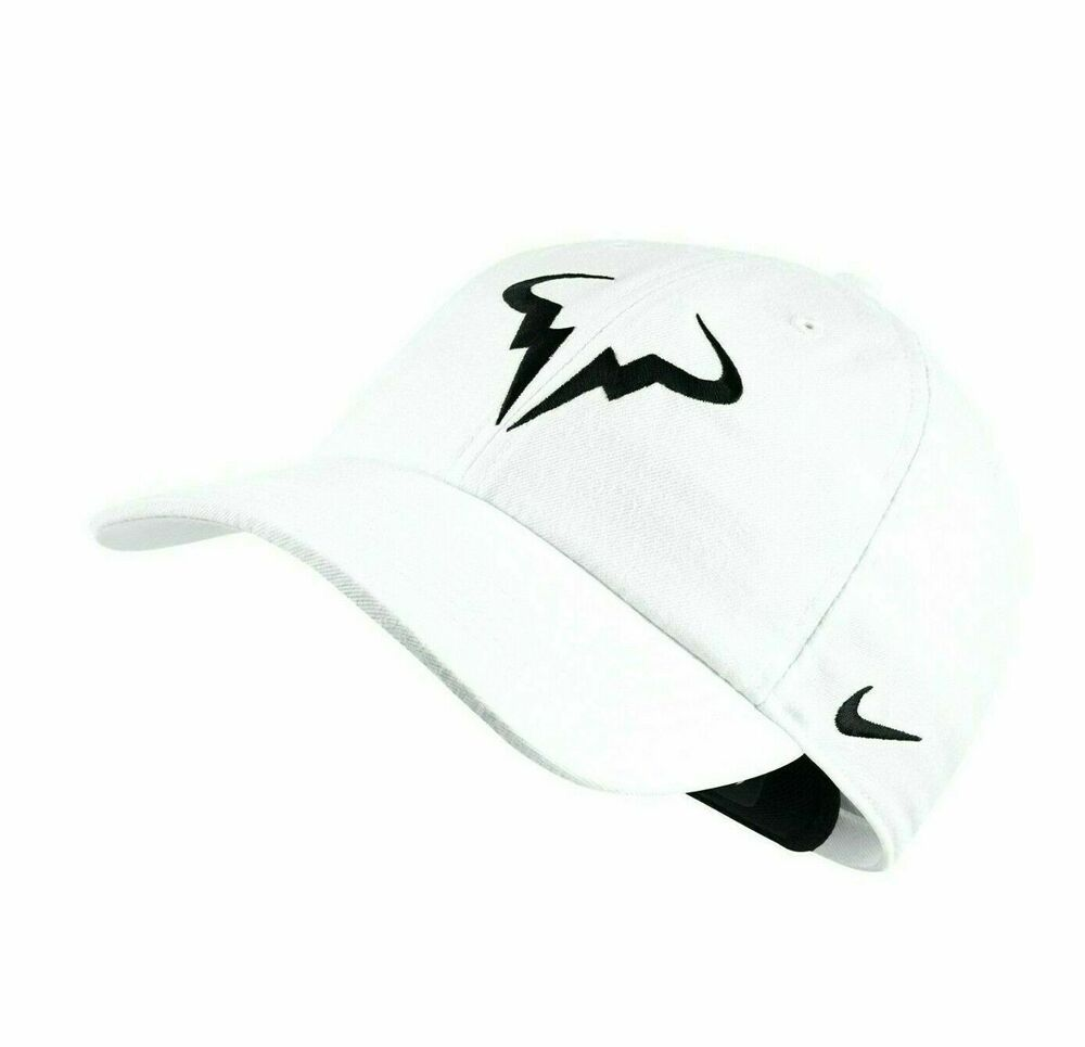 Nike Rafa Aerobill H86 Tennis Hat White Black 850666 101 Nike Mens Tennis Nike Tennis