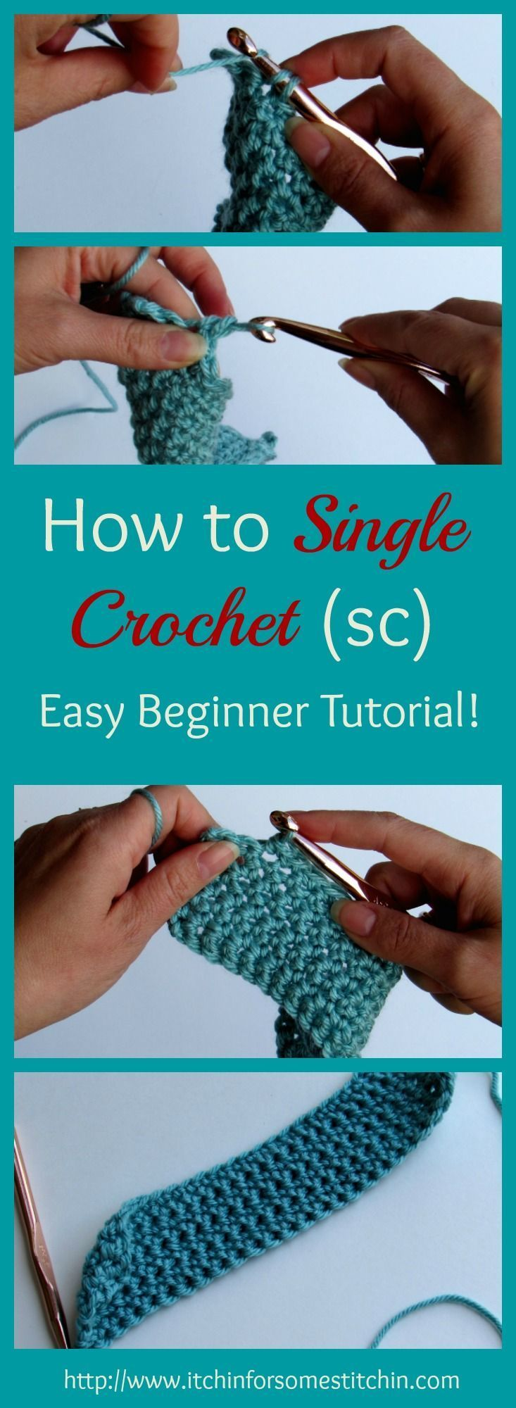 How to Single Crochet: 6 Easy Steps - Itchin' for some Stitchin'