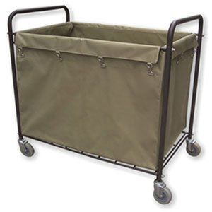 Lavex 12 Bushel Metal And Canvas Laundry Trash Cart With Handles By Lavex 87 99 Four 4 Non Marking Swivel Ca Laundry Commercial Laundry Mesh Laundry Bags