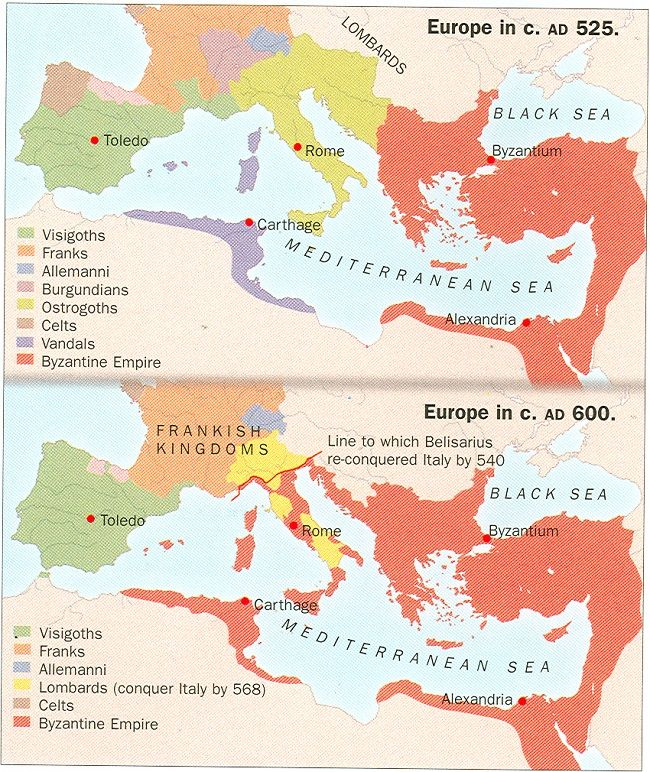 Rome and it's Empire - Decline and Fall: Map of the ...