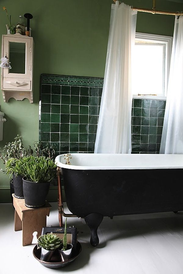 Chaucer Road Light Locations Green Tile Bathroom Green Bathroom Dark Green Bathrooms