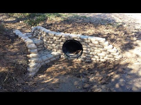 Culvert Bricking With Cement Bags Youtube Creek
