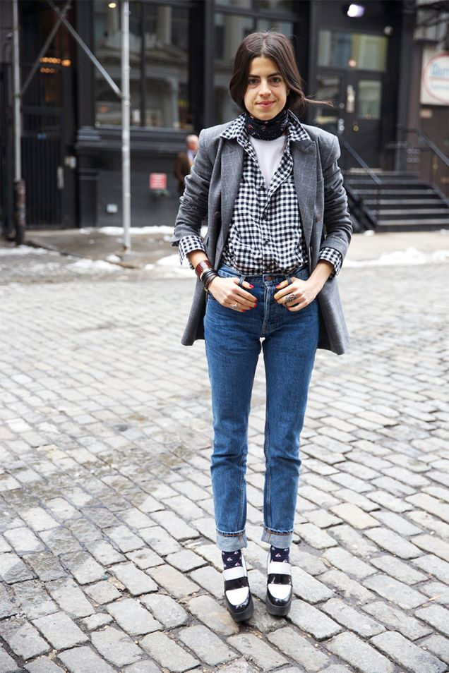 blazer: Studio Nicholson * flannel shirt: Uniqlo * muscle tee: Topshop * jeans: Patrik Ervell * socks: J. Crew , loafers: Celine * ring: Bochic