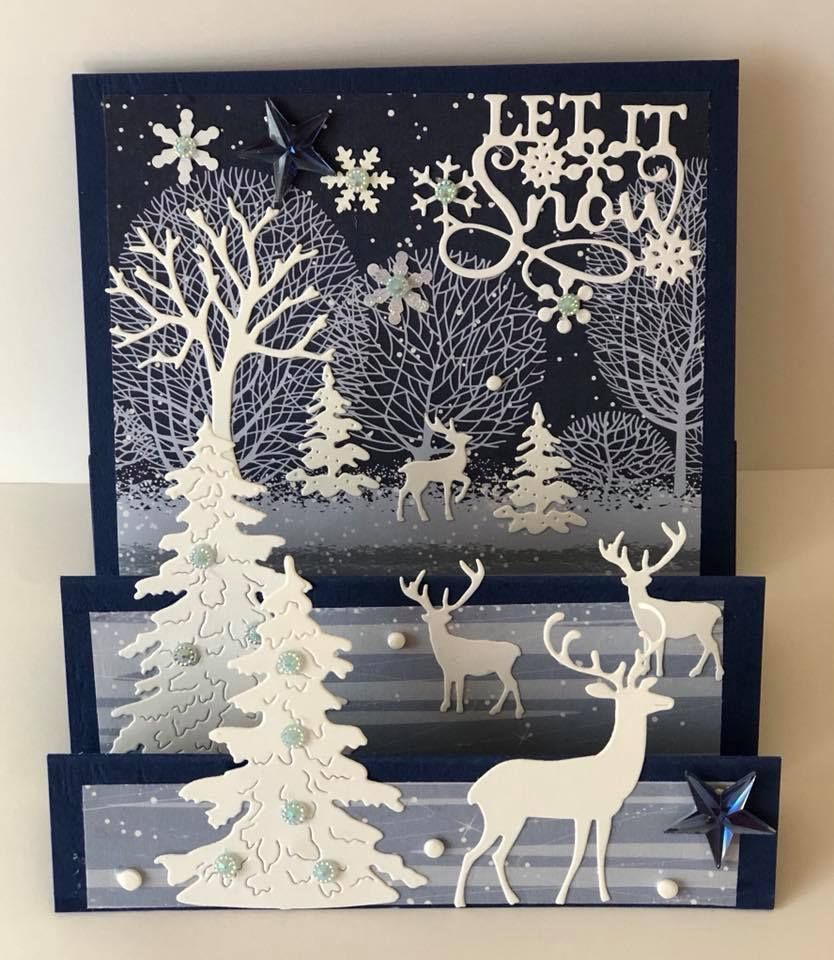 открытка поделка на новый год своими руками 3д формат для вышивки