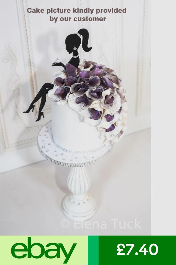 Mdf Wood Girl Princess Fairy Lady Silhouette Birthday Cake Topper Birthday Cake Toppers Barbie Cake Silhouette Cake