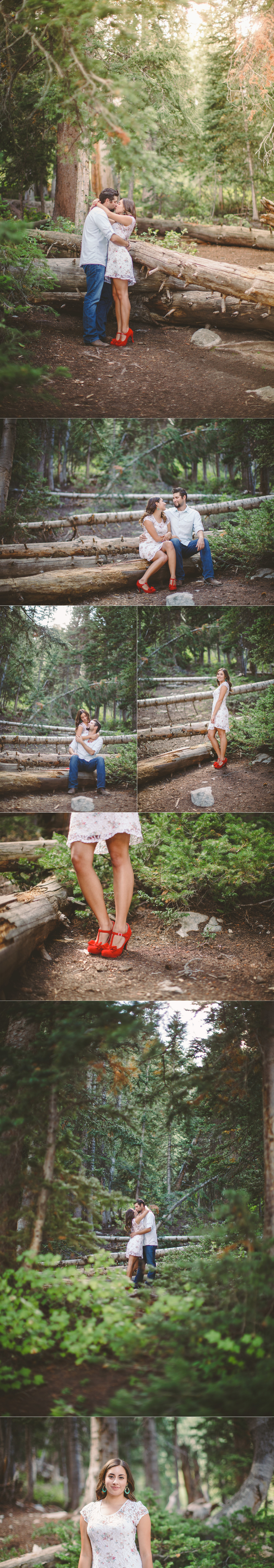 I just LOVE these photos! The sundress and red shoes amid the greenery is stunning