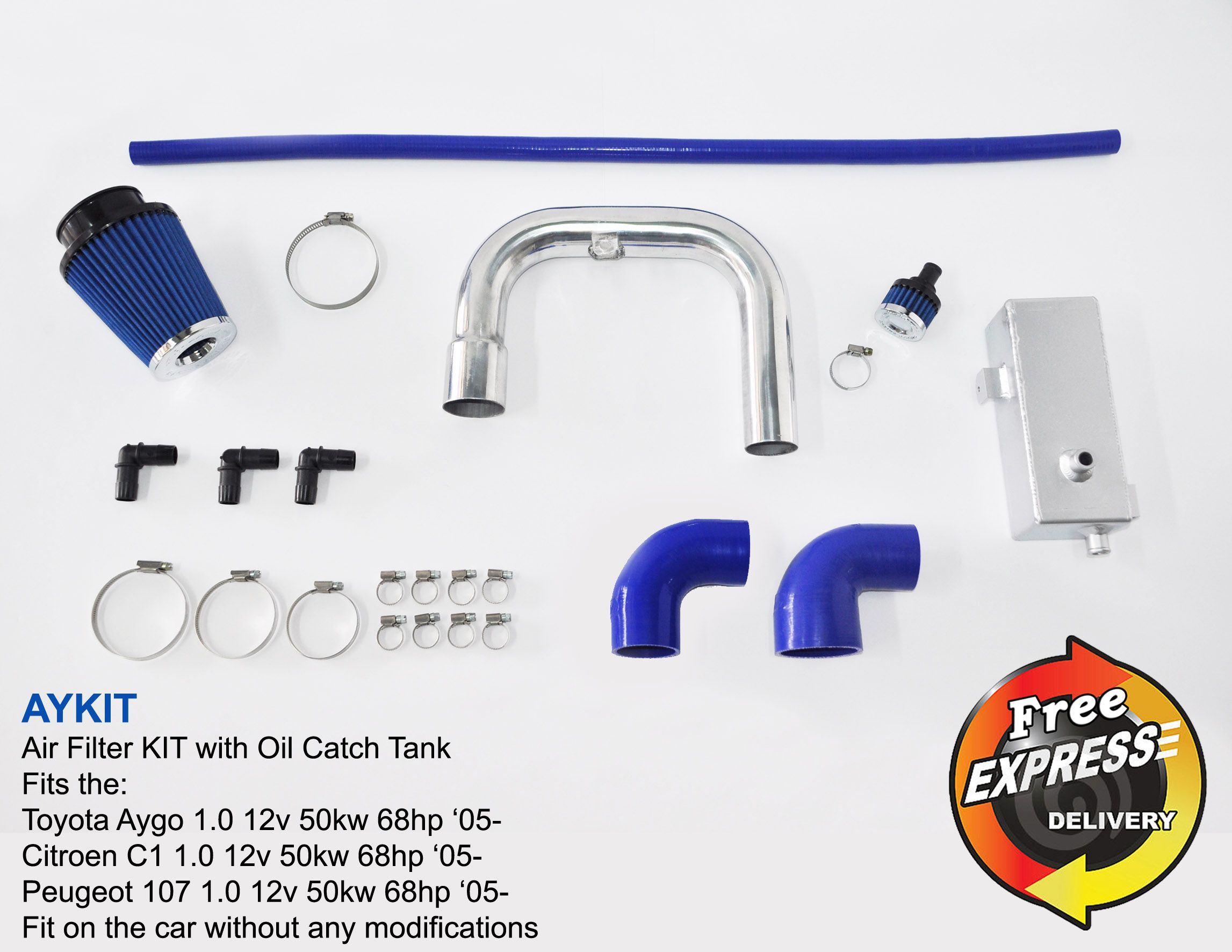 Air Intake filter KIT & Oil Catch Tank for Toyota Aygo