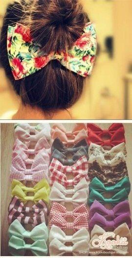 Cute hair bows to make!