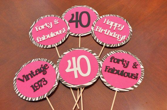 Girly 40th Birthday Party Decorations Etsy Pinterest