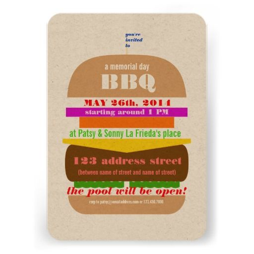 cheeseburger bbq cookout invitation template bbq and summer