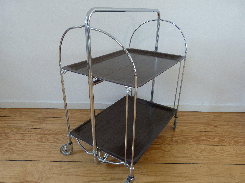 Mid Century Folding Table Serving Table 1960 S Serving Cart Melamine And Steel Made By S W Germany Mit Bildern Klapptisch Beistelltisch Tisch