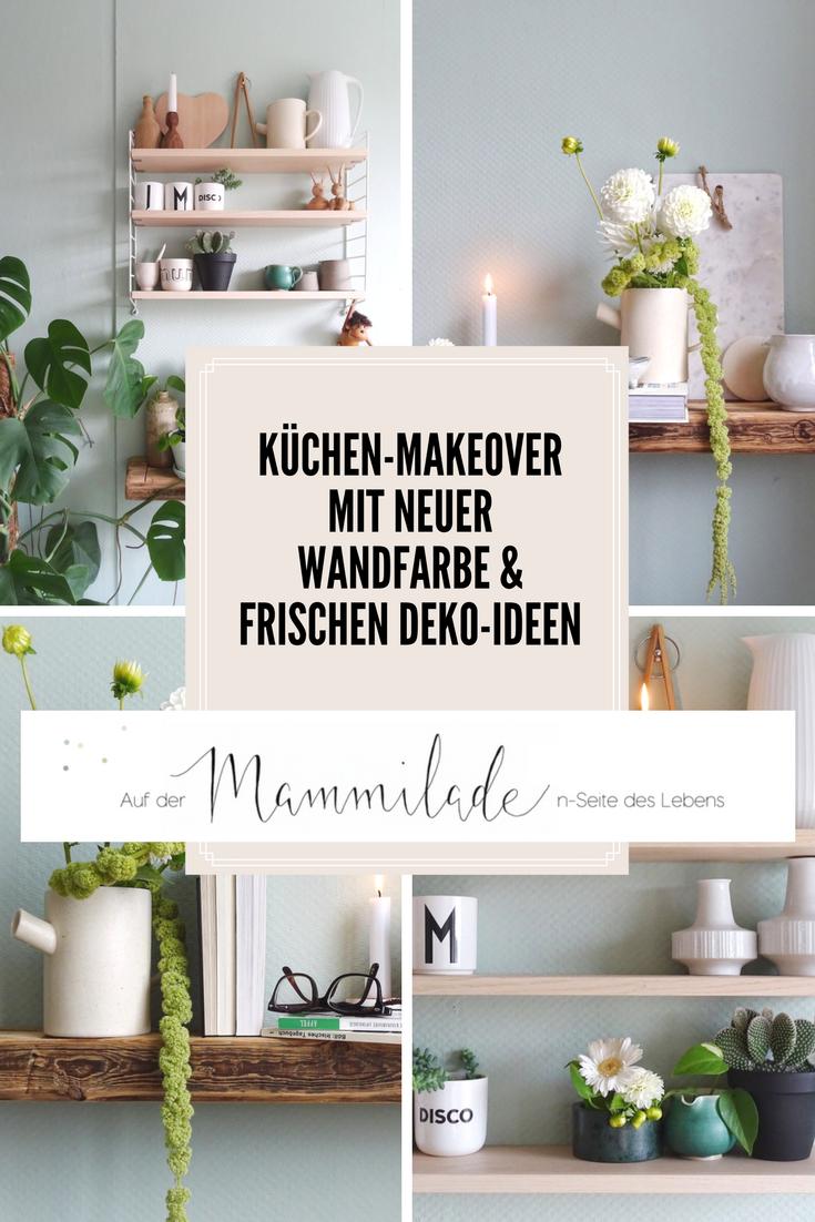 Unglaublich Küchen Wandfarbe Beste Wahl Küchen-makeover Mit Neuer In Mint + Styling-ideen