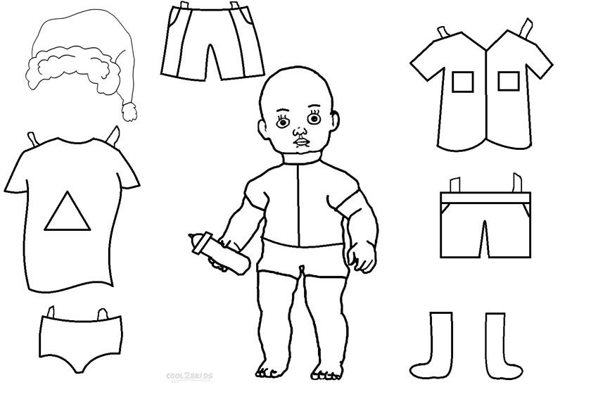 paper doll coloring pages - Google-søgning
