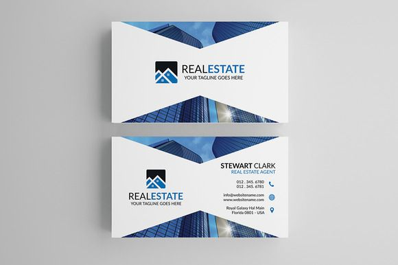 Modern Real Estate Business Card By Shahjhan On Creativemarket