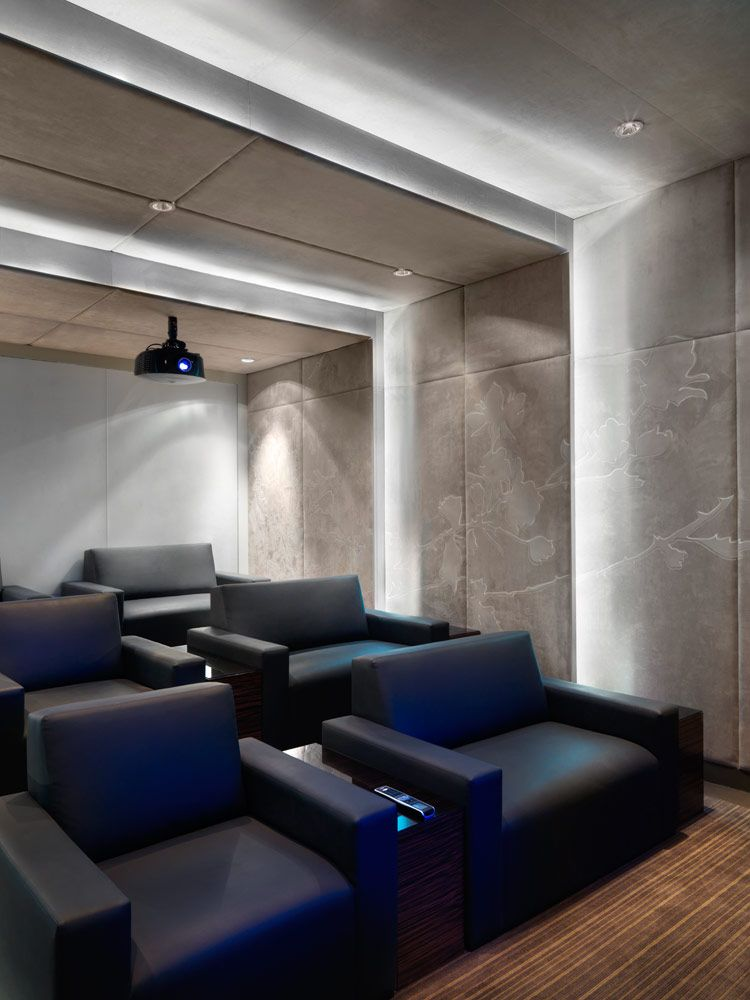 Small Home Theater Room Design: Lumiere Condominiums, Toronto. Interior Design By Studio