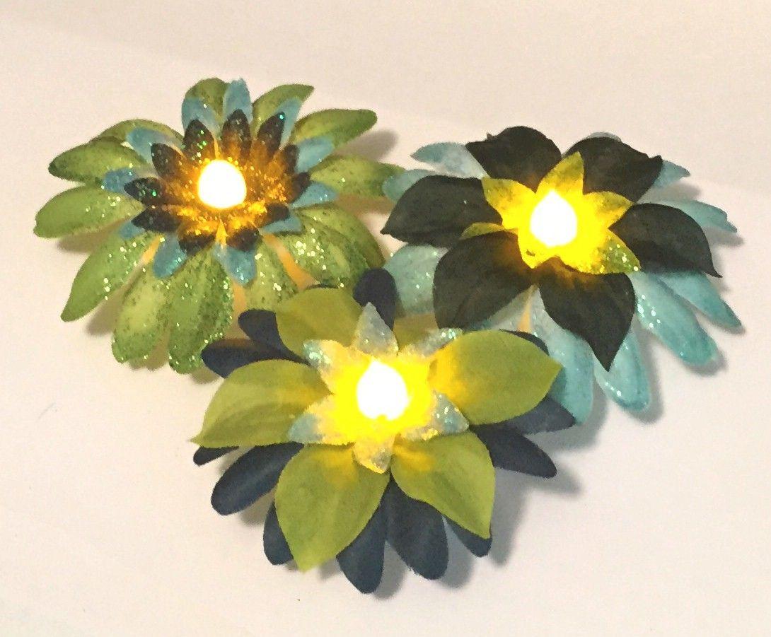 Tea Light Flower Centerpieces