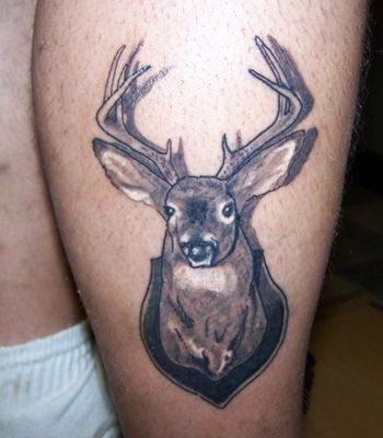 Whitetail deer tattoos death tattoos demon tattoos for Whitetail deer tattoos