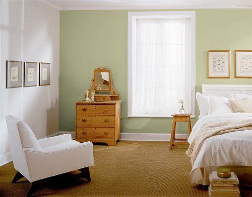 Behr paint color Sanctuary green  colour ref  House