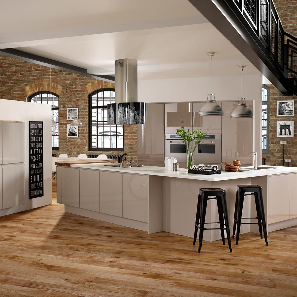 Milano New York Cashmere Grey Kitchen  Glasseys Gaff  Pinterest Inspiration New York Kitchen Design Style Inspiration Design