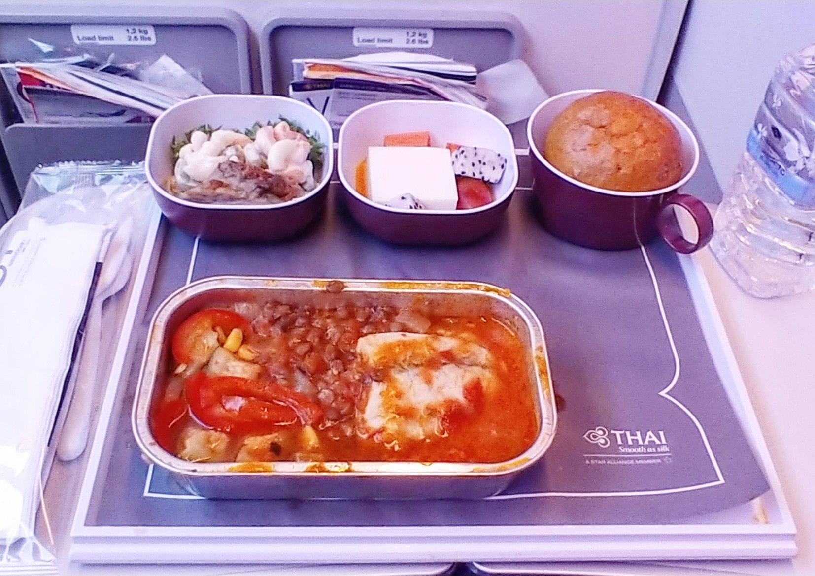 Thai Airways Economy Class Airline Food Food Meals