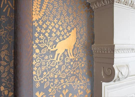 Meticulous Mastery Hand-Painted Walls Wallpaper, Hand painted