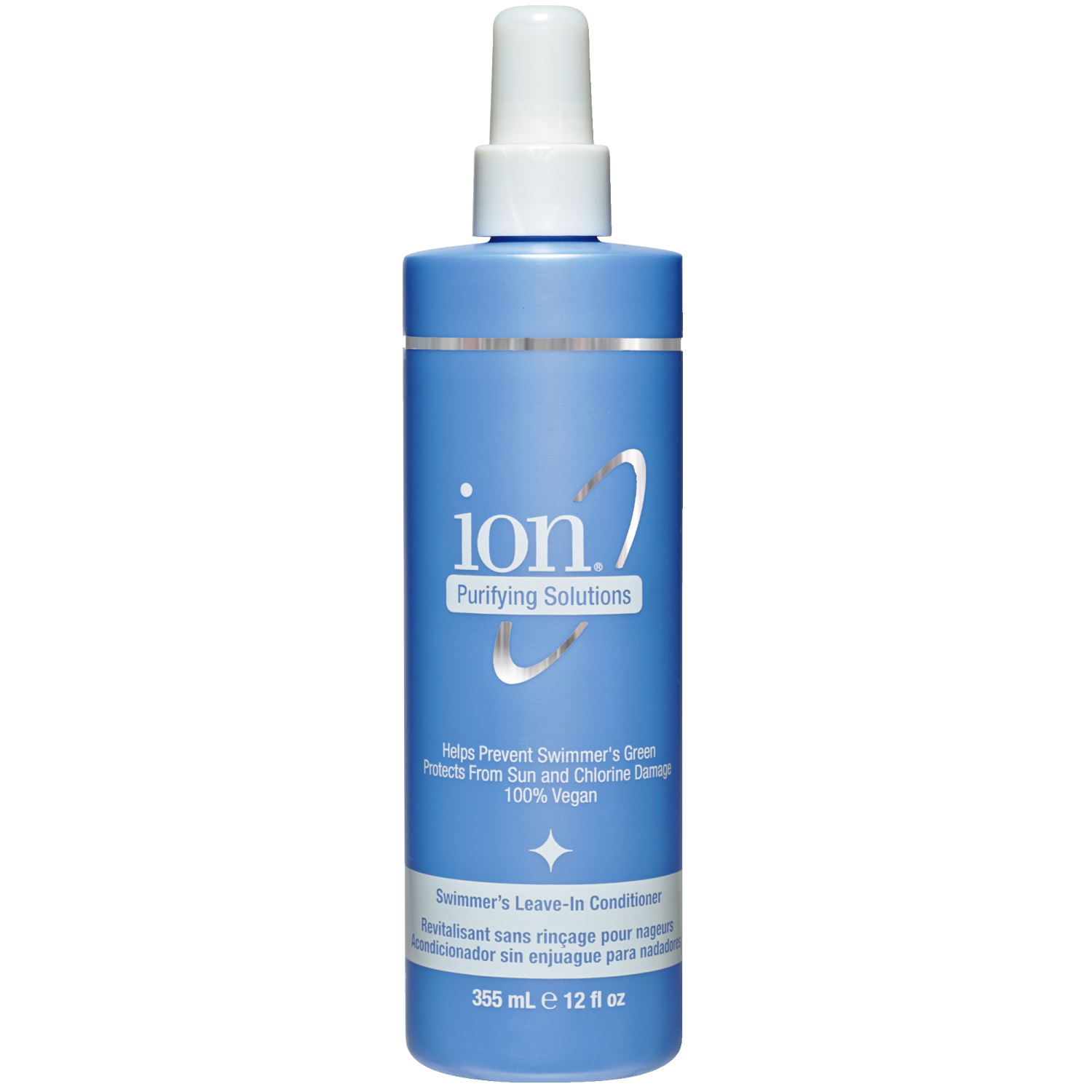 9f4d3b55090 Ion Swimmer's Leave-in Conditioner helps prevent swimmer's green and  protects hair from sun and chlorine damage.