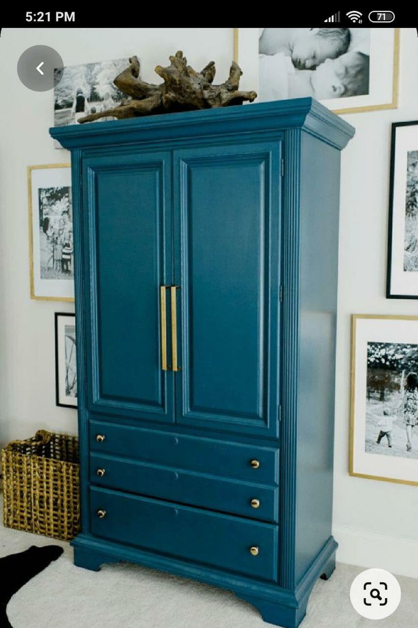 Epingle Par Morena Riella Sur Muebles En 2020 Relooking Armoire Meuble Bleu Relooking De Mobilier