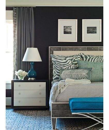 Love the color palette and textures in this bedroom.