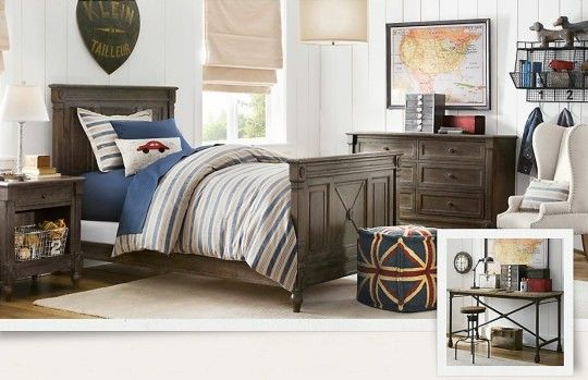 : Blue Cream Classic Traditional Decoration For Boys Bedroom