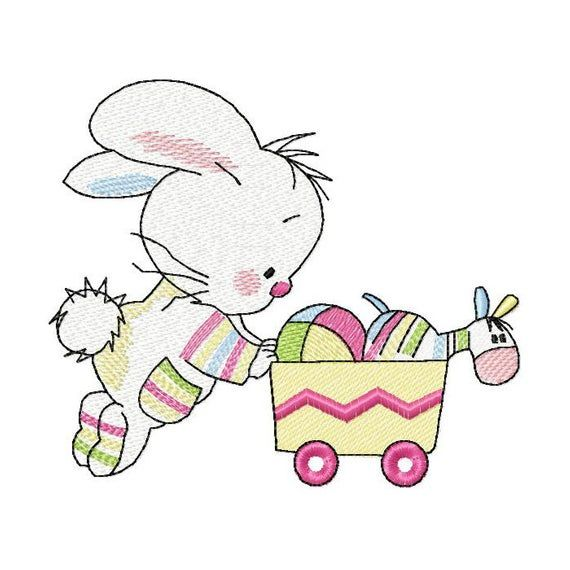 Bunny with toys Machine Embroidery Design, Embroidery Bunny, Kids design, Embroidery cute Bunny 4*4, 5*4, 5*7, 6*8