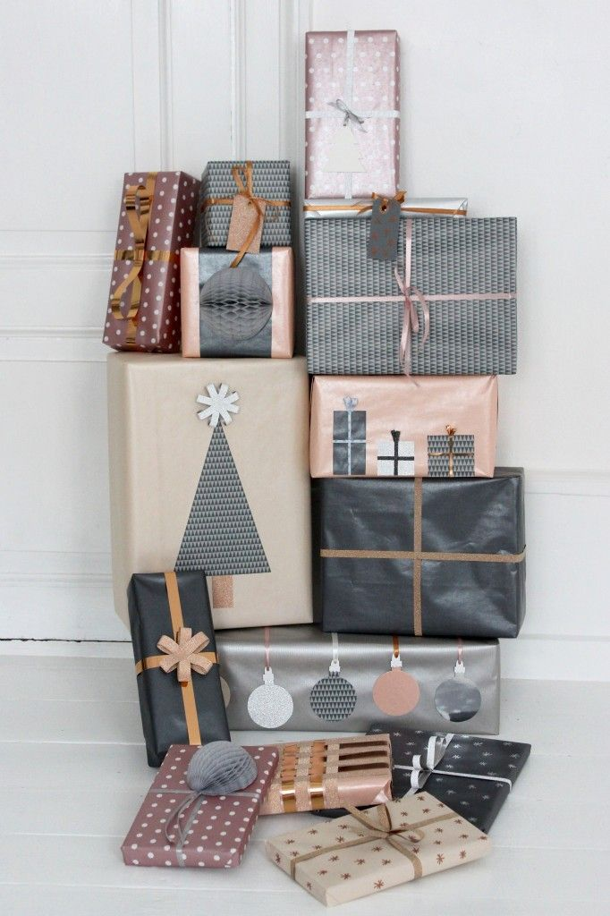 grey and nude WRAPPING IDEAS Pinterest Christmas, Gifts and