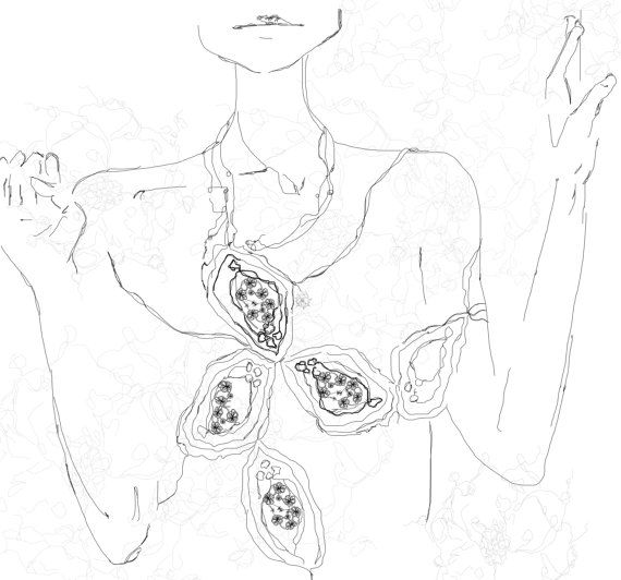 """Limited Edition Illustration.....""""My necklace"""""""