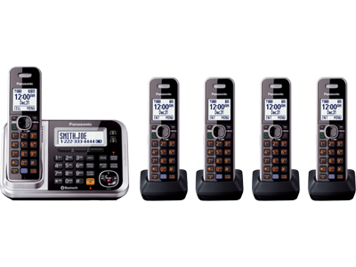 Panasonic Kx Tg7875s Link2cell Bluetooth Enabled Phone With Answering Machine Kx Tg7875s 5 Cordless H Cordless Phone Cordless Telephone Telephone Accessories