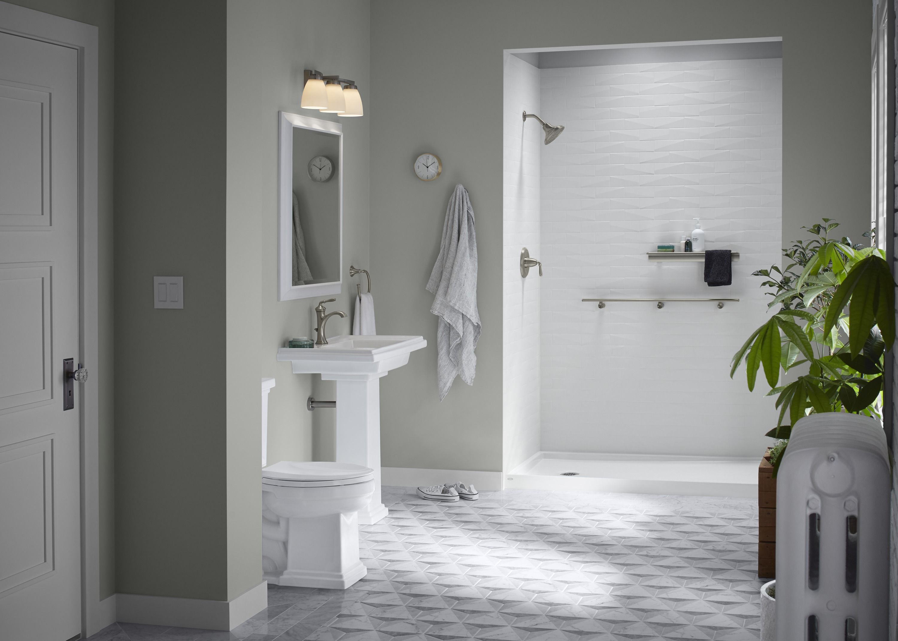 Need A New Shower Or Tub Area Contact Maxhome Today For Your New Kohler Luxstone Shower 1 Day Installation Plus 0 I Bathrooms Remodel Bathroom Cost Remodel