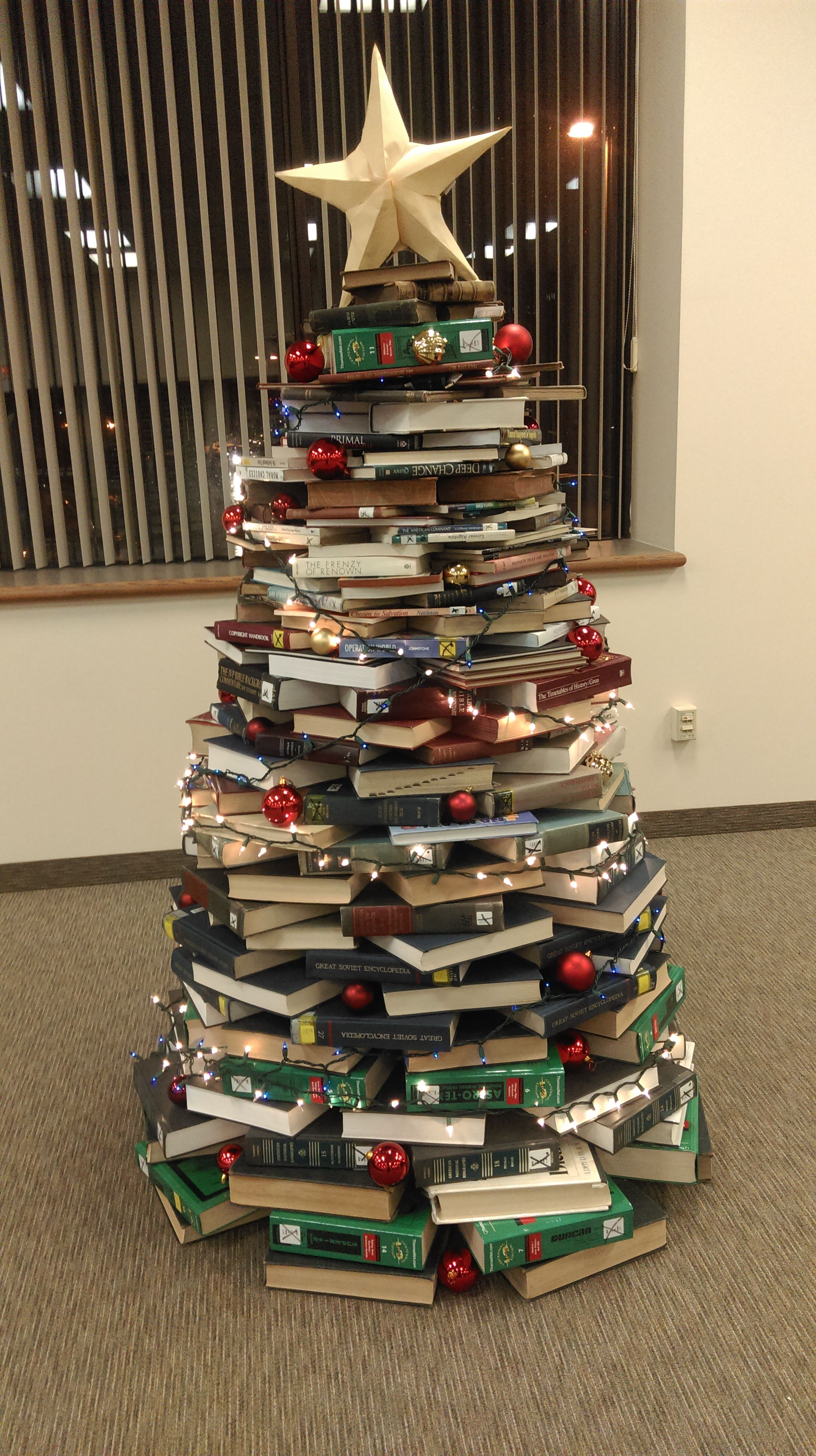 My Cairn Christmas Library Tree @ Cairn University Masland Library